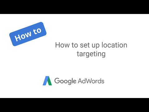 How to set up location targeting
