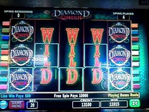 Diamond Queen slot machine max jackpot!!