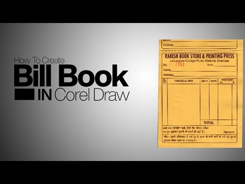 How To Create Bill Book In Corel Draw Hindi Video Tutorial thumbnail