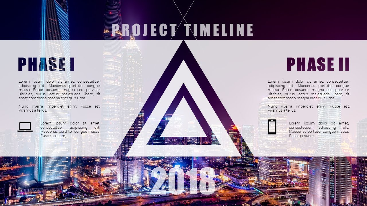 How To Create Beautiful Project Timeline Presentation Template Slide - Microsoft office project timeline template