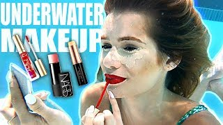 UNDERWATER FULL FACE MAKEUP CHALLENGE!