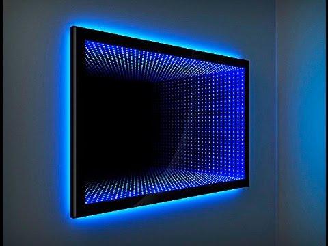 Зеркало с эффектом бесконечности. Световой тоннель How to make an Infinity Mirror