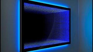 Зеркало с эффектом бесконечности. Световой тоннель от компании Новая Идея. The mirror of infinity(В этом видео ролике наглядно показывается как изготовить 3D зеркало с эффектом бесконечности. По контуру..., 2015-02-10T13:17:58.000Z)
