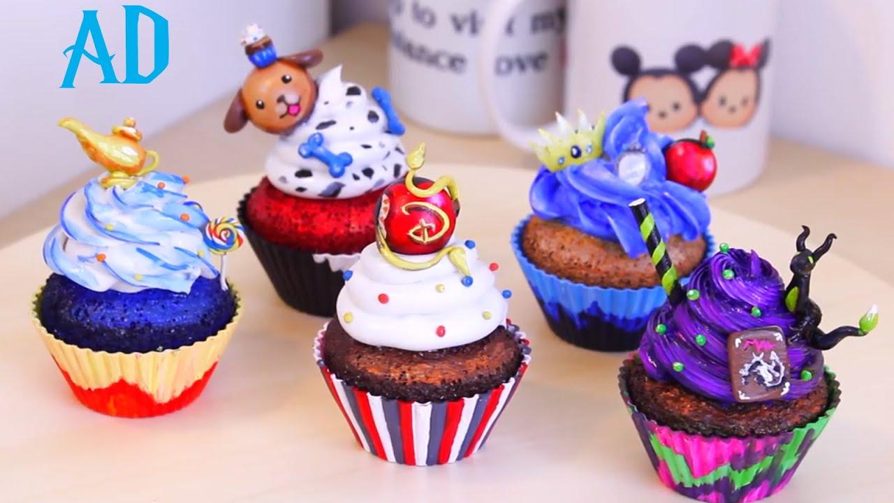 Disney Descendants - ART CUPCAKES - YouTube