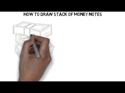 How To Draw Stack Of Money Notes - YouTube