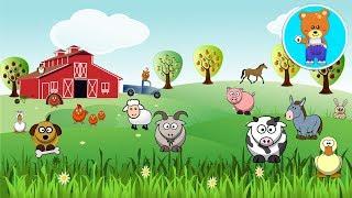 Домашние животные на ферме  Как говорят животные  Мультфильм для детей