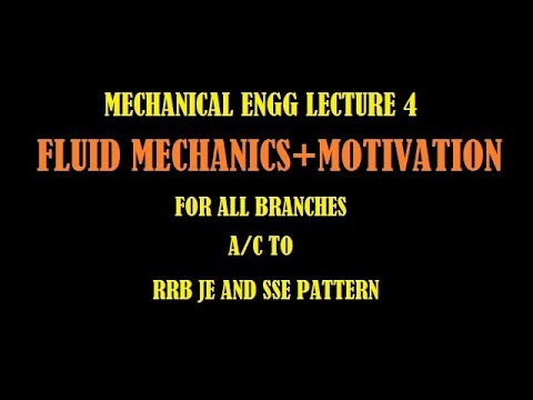 FLUID MECHANICS FOR RRB JE AND SSE
