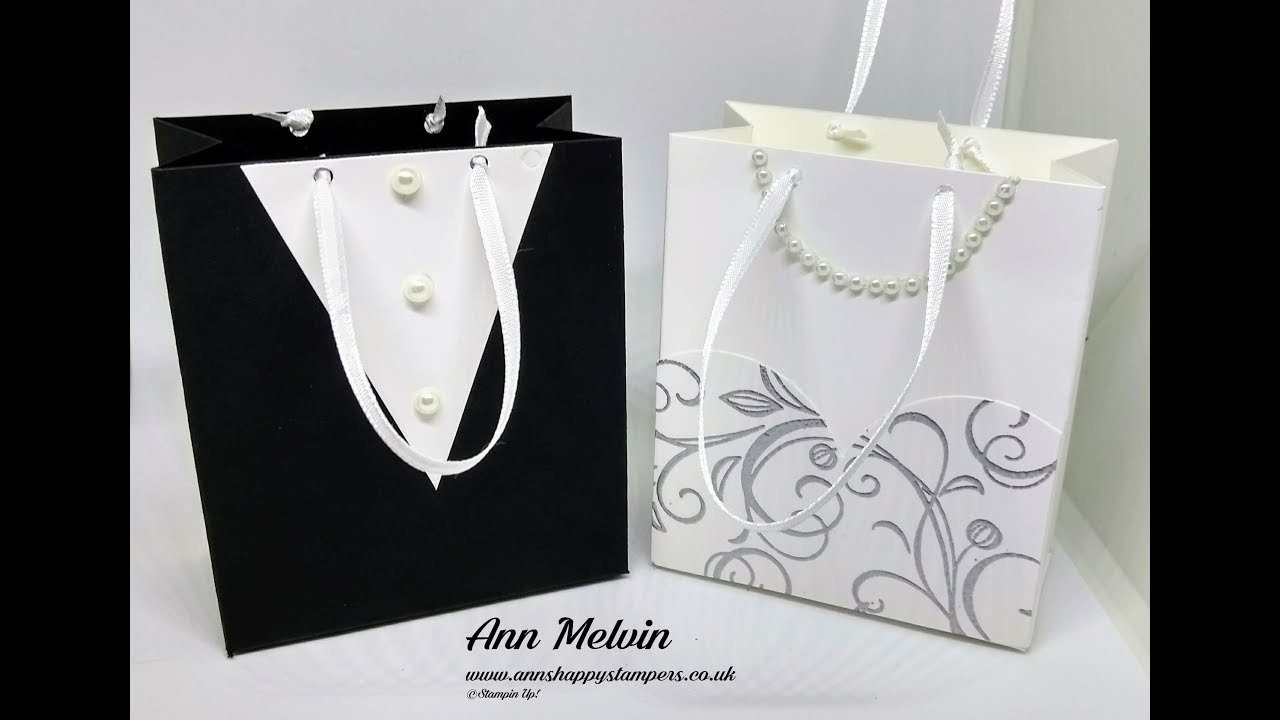 1 Wedding Week Bride & Groom Favor Bags - YouTube