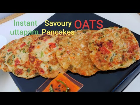 Low Fat | Oats Uttapam | Savoury Pancakes | PandeyGcooking