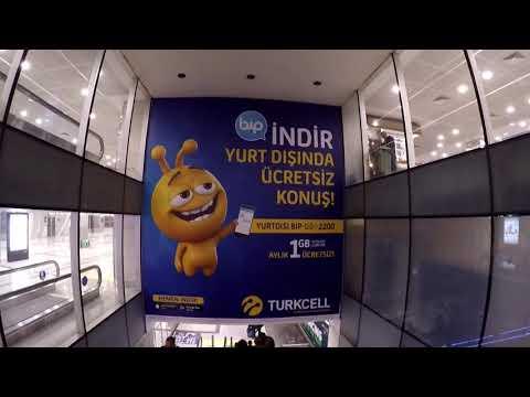 Istanbul Ataturk Airport 2017 Terminal & Ramp Tour - Gopro 1080 HD
