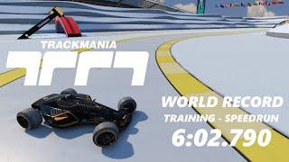 Trackmania - WORLD RECORD - Training Speedrun | 6:02.790