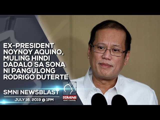 EX PRESIDENT NOYNOY AQUINO, MULING HINDI DADALO SA SONA NI PANGULONG RODRIGO DUTERTE