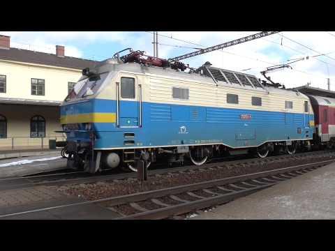 350.004-8 Hugo ZSSK na vlaku EC 128 ve stanici Zábřeh na Moravě