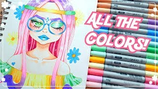 ☆ USING EVERY COLOR || Pastel Copic Challenge!  ☆
