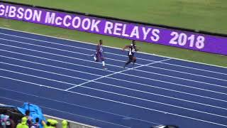 Gibson McCook Relays 2018 Boys 4x100m Class 1 Final