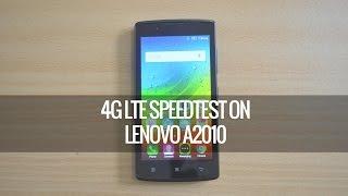 4G LTE Speedtest on Lenovo A2010