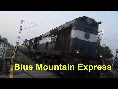 12671 NILGIRI Express : Level Crossing Shot between Coimbatore & Mettupalayam