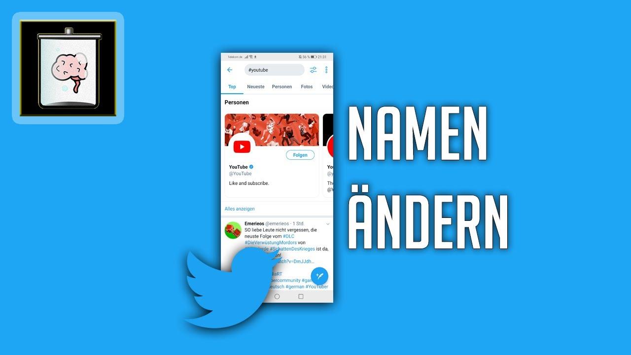 Twitter Namen ändern