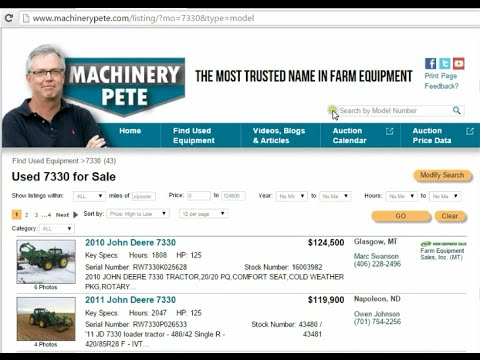 Fast New Way to Search for Used Equipment on Machinerypete com