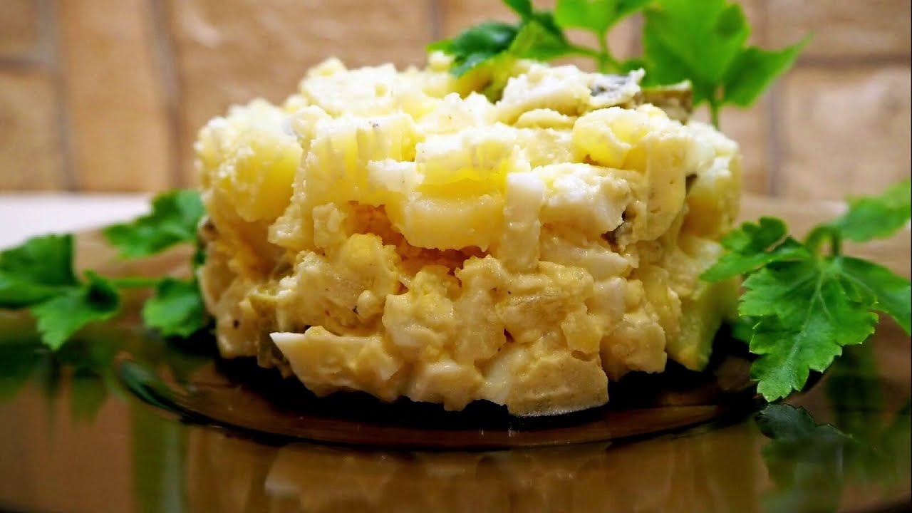 Картофельный салат на каждый день. Немецкий картофельный салат.
