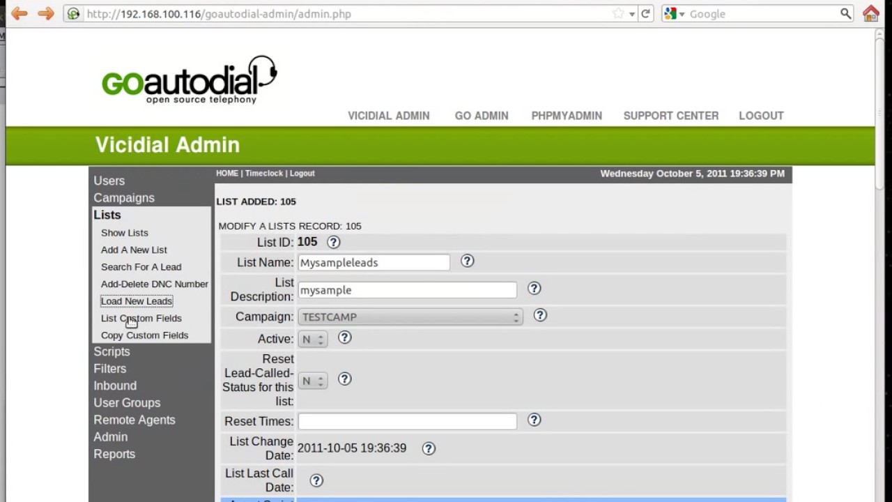 how to Load leads vicidial & goautodial