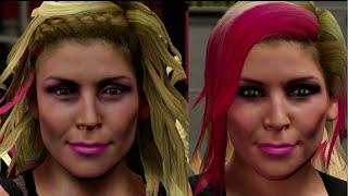 WWE 2K15 vs WWE 2K16 | Graphical Comparison 2 - Divas