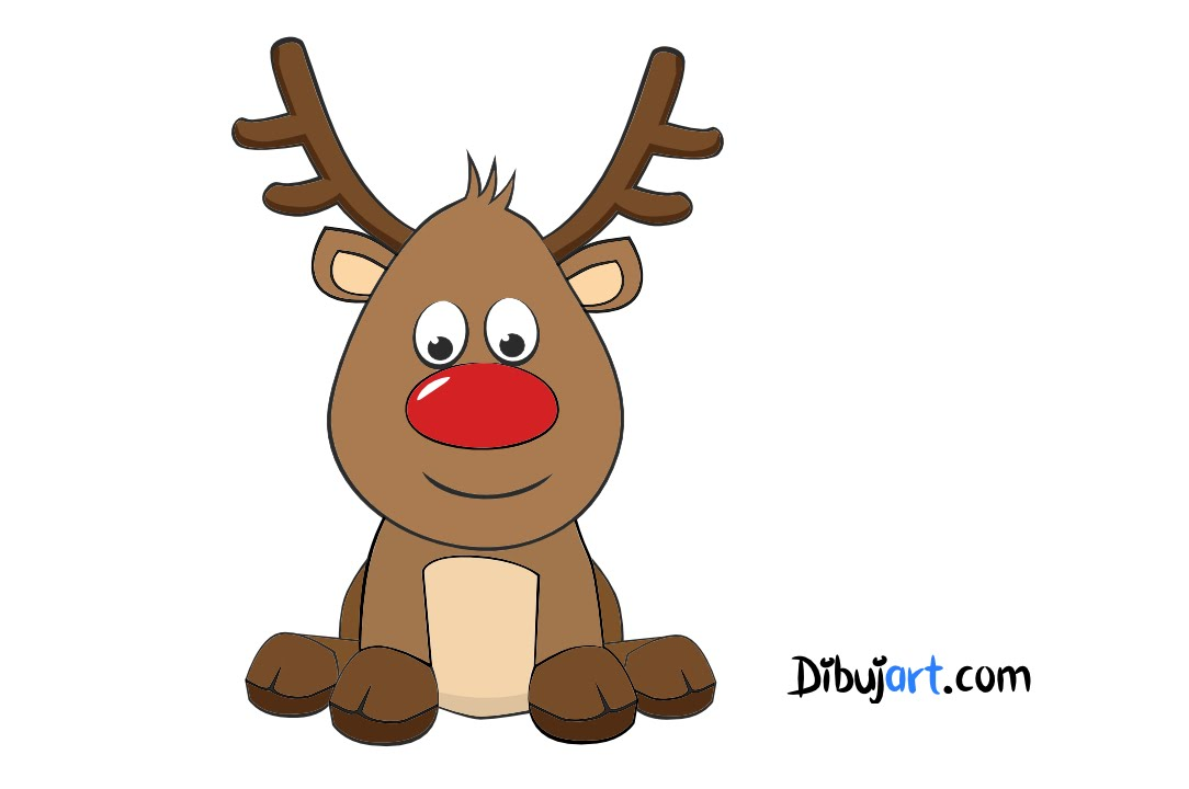 Como dibujar a Rodolfo el Reno! (El reno de papa noel) — Dibujos de ...
