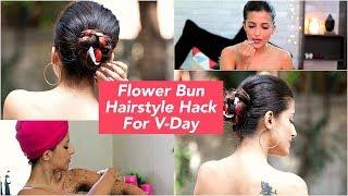 Easy Ribbon Bun Hairstyle | GRWM - Valentine's Day Hair Hacks | Date Hairstyles | Knot Me Pretty