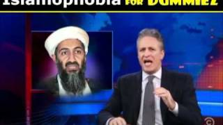 Libya Muammar Gaddafi, Islamophobia 4 Dummies, Jon Stewart Daily Show Colbert