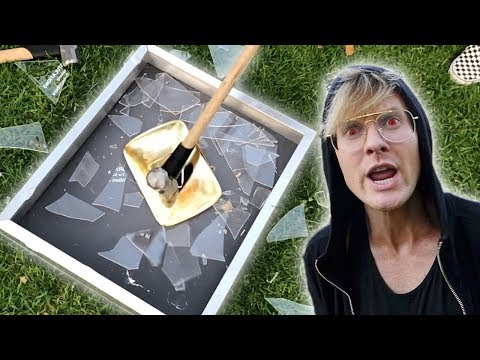 DESTROYING MY GOLD YOUTUBE PLAY BUTTON