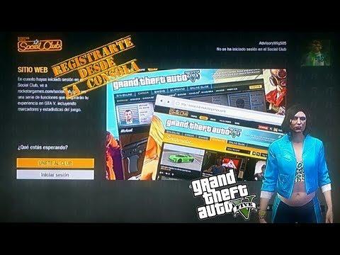 Rockstar Social Club/Crear cuenta desde tu consola