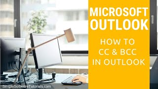tutorial how to cc bcc in outlook