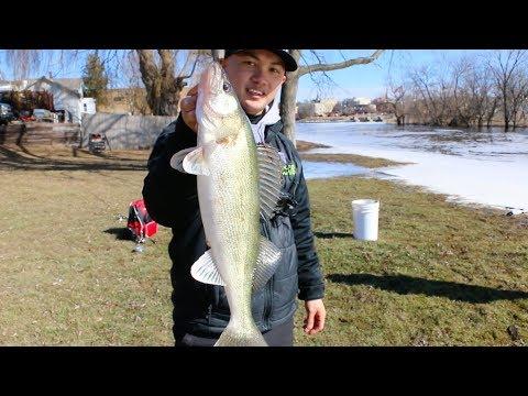 Fishing For Walleyes- Jefferson Dam / Rock River