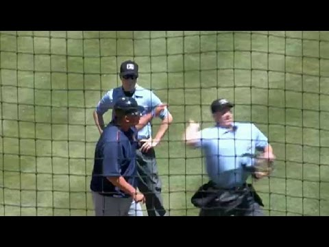 Buies Creek manager Lopez gets ejected in seventh