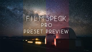 Film Speck Pro Preset Preview