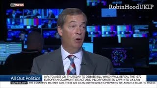 Nigel Farage says we should just walk away from the EU negotiations