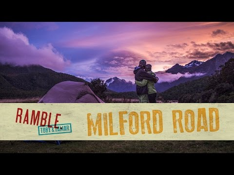 The most beautiful road in the world. Milford Road, New Zealand.