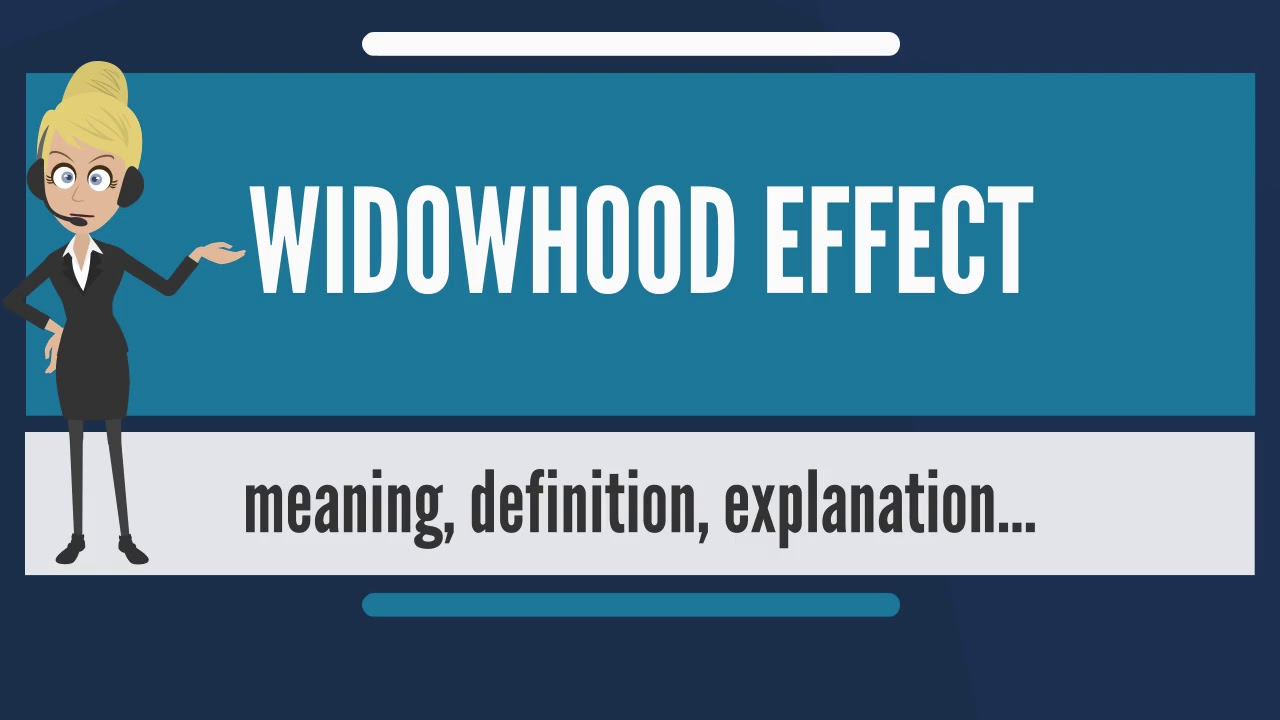 Widowhood effect statistics