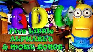 Five Little Alphabet & More Songs   Kids Songs   Nursery Rhymes   Baby Songs   Children Songs