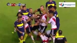 River Plate vs Boca Juniors 2-0 - Goles & Pelea - 28/Enero/2017 - Super Clasico 2017