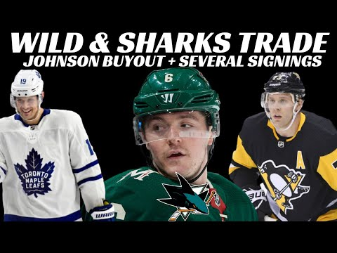 NHL Trade - Wild & Sharks + Johnson Buyout + Leafs Sign Spezza