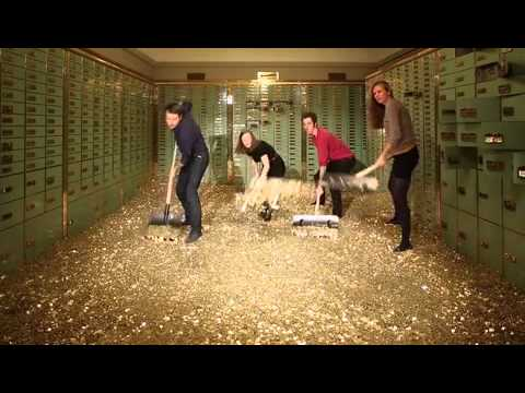 Funny video of Swiss basic income activists digging into money!