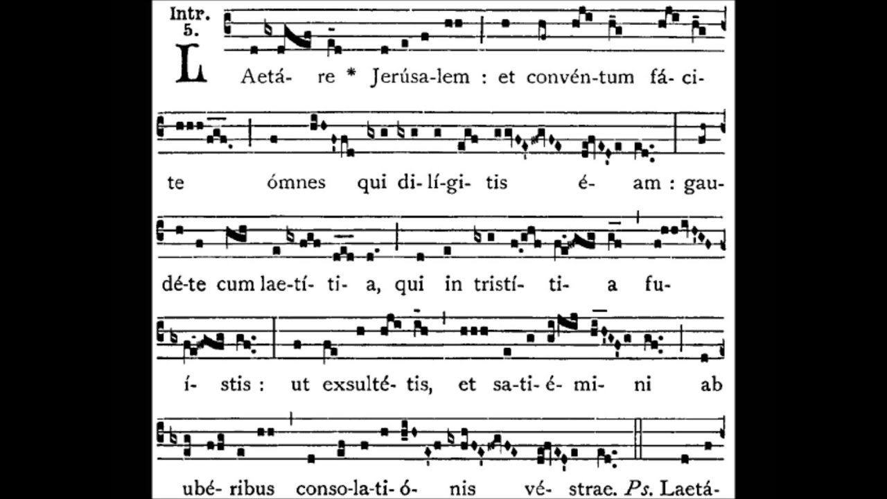 Image result for laetare introit