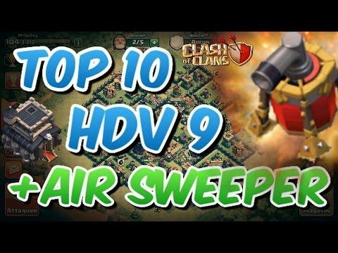top 10 hdv 9 farm propulseur d 39 air clash of clans youtube. Black Bedroom Furniture Sets. Home Design Ideas