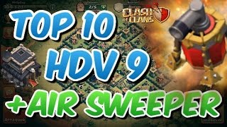TOP 10 - HDV 9 Farm + PROPULSEUR D'AIR | Clash Of Clans