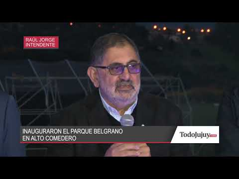 Alto Comedero: inauguraron el Parque Belgrano