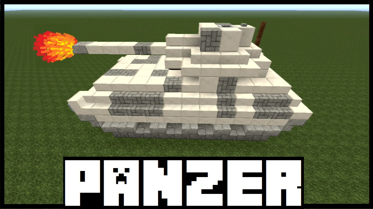 Minecraft Tutorial Panzer Bauen Deutsch YouTube - Minecraft panzer spiele