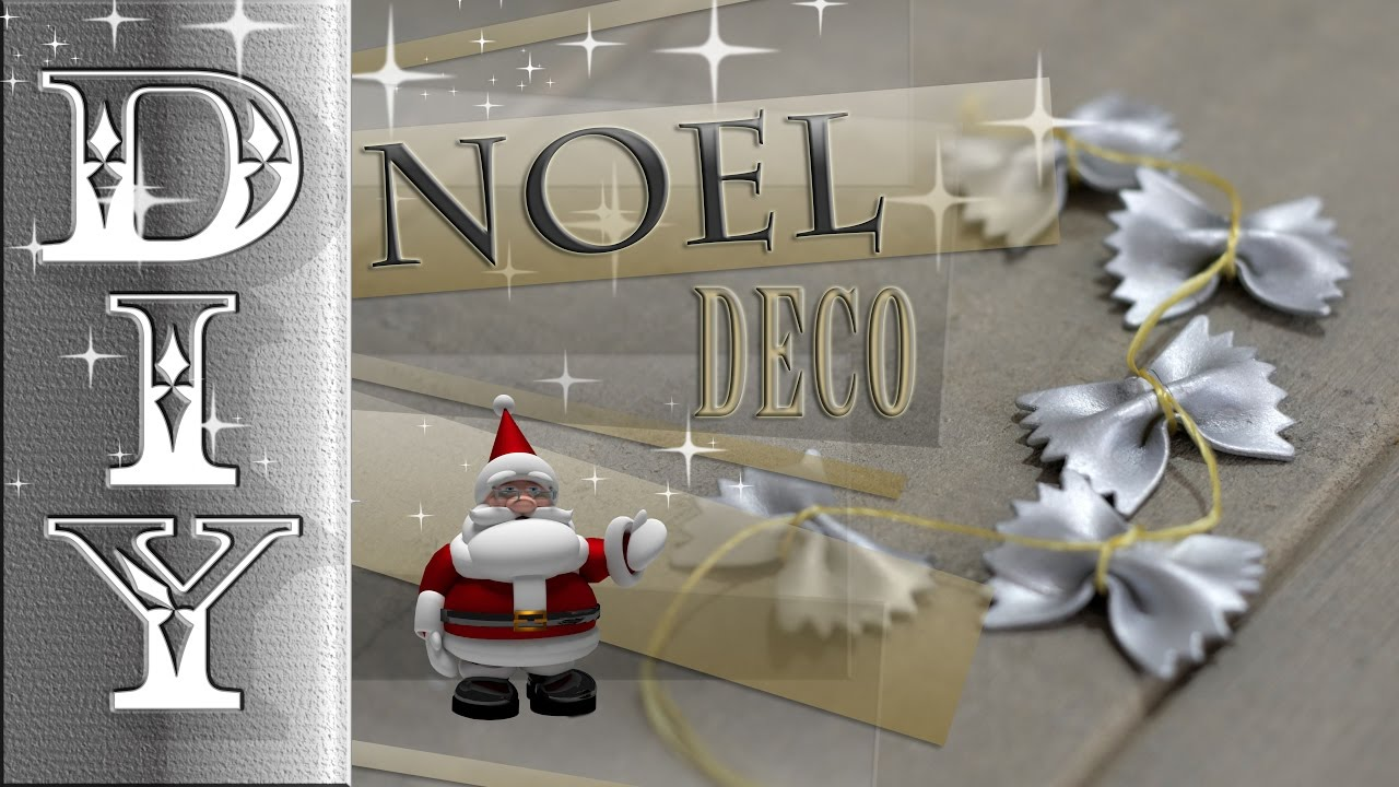 noel deco guirlande farfalle pate christmas decoration. Black Bedroom Furniture Sets. Home Design Ideas