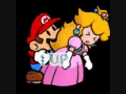 Peach and mario doing it in the bed