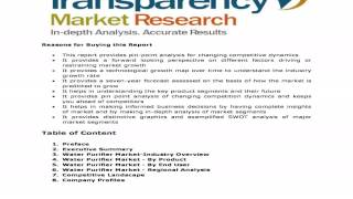Global Water Purifier Market - Industry Analysis, Trends and Forecast, 2013-2019